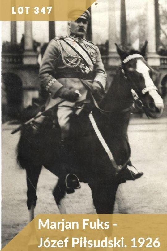 Lot 347 - Józef Piłsudski w ujęciu Marjana Fuksa z 1926